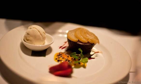 Chocolate and Pear Mudcake