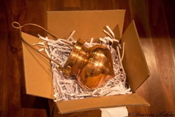 Shirodhara copper pot