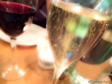 celebratory champagne